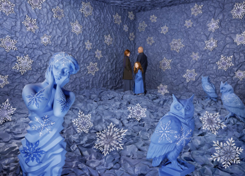 Pictured: detail of a photograph by Sandy Skoglund, 'Winter'.
