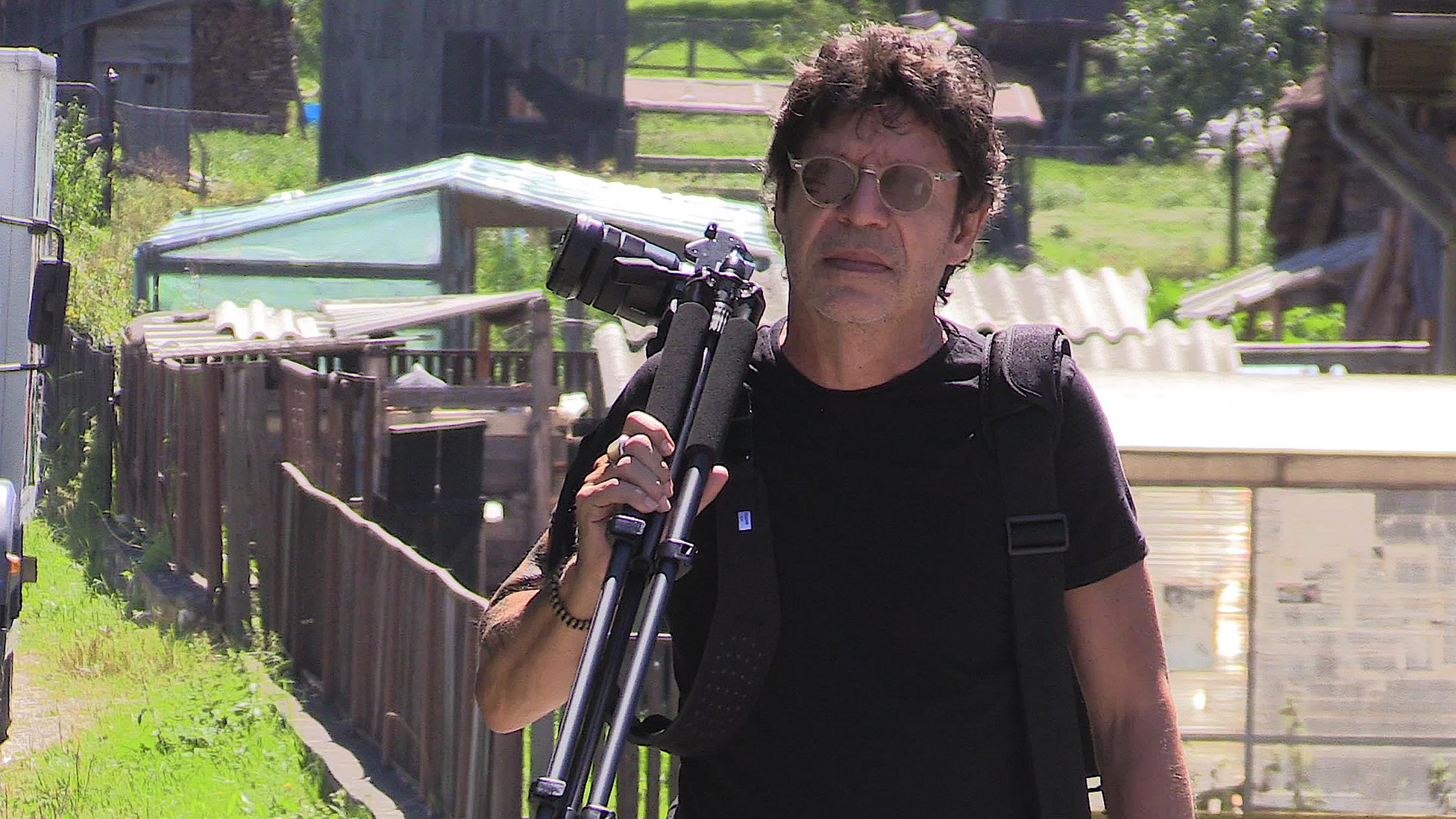 Pictured: Videographer and Professor, Edin Velez.